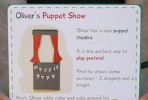 Kids Puppets (Petit Mail: Oliver's Puppet Show) / Pins to inspire additional family interaction & children's activities that supplement the stories contained in #petitmail educational story cards. www.petitmail.ca / by Alison Butler | Petit Mail Story Postcard Subscription For Kids