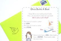 Boat Building For Kids (Petit Mail: Olivia Builds A Boat) / Pins to inspire family connection and easy activities as a supplement to our monthly Petit Mail story cards for children. www.petitmail.ca / by Alison Butler | Petit Mail Story Postcard Subscription For Kids