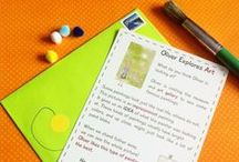 Art With Kids (Petit Mail: Oliver Explores Art) / Pins to inspire family connection and easy activities as a supplement to our monthly Petit Mail story cards for children. www.petitmail.ca / by Alison Butler | Petit Mail Story Postcard Subscription For Kids