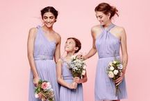 Light Purple Wedding / Lavender and violet bridesmaid dresses, bouquets, centerpieces, decor and more to inspire a pale purple wedding.