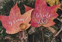 Fall Wedding Ideas / Nature-inspired color palettes, seasonal flavors and fall wedding decor featuring autumnal accents like fallen leaves and pumpkins to inspire your fall wedding.