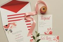 RSVP Ready / Stationery sets the tone for your big day, so start pinning pretty paper options - from invitations and save the dates to programs and table numbers.
