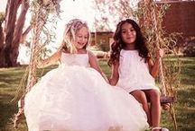Flower Girl & Ring Bearer / Darling inspiration for the littlest members of your wedding party! Find the sweetest flower girl dresses, flower baskets, and ring pillows for your ring-bearer to make your wedding day extra special.