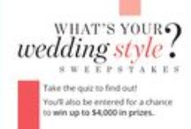 What's Your Wedding Style? / Are you a Classic, Romantic, Modern, Glamorous or Vintage bride? Take our quiz to find out! You'll also be entered for a chance to win up to $4,000 in prizes! Enter between 9/28 and 10/19: http://bit.ly/1L6s3GL Follow us here for plenty of pretty wedding dresses, bridal jewelry, wedding decor and more to inspire every bride's style.  / by David's Bridal
