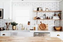 Dreamy Kitchens / Part of coming up with inspired cupcake recipes is working in an inspiring kitchen. These are some of my favorites.