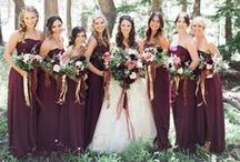 Burgundy Wedding / From bold brights to deep, rich hues, a red wedding evokes the feeling of love. Customize your day with David's Bridal exclusive red shades: Apple, Cherry, Garnet, Merlot, Mulberry, Valentina and Wine.