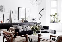 Furniture .... from white to black & in between / Eclectic taste. Many types of design from Scandinavia , modern farmhouse, contemporary & more