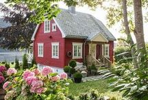 Exteriors of homes -  focus on Nordic homes & country homes / I love cottages & craftsmen homes but since moving from Canada to Norway Scandinavian is my new love :)