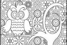 Printables: Coloring Book / Self explanatory board! Printable coloring pages! I love them...and so do the kids, I guess.