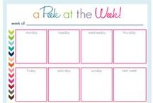 Organizing: Printables / Great printables to keep organized: Planners, checklists, etc!