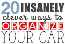 Organizing: The Car / The car needs organizing love too! These ideas will keep things neat and tidy!