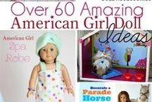 DIY: American Girl / American Girl accessories and furniture are super expensive! I love these DIY alternatives.