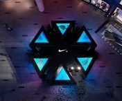 Nike+ Run Club on Huaihai by COORDINATION ASIA / COORDINATION ASIA joined forces with Nike to create the NIKE+ RUN CLUB on Huaihai, a pair of stealth hubs operating as a pop-up gym outside of department store Lane Crawford in Shanghai's Times Square.