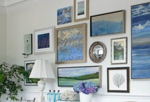 Photo & Art Display by deeAuvil / creative ways to display photographs and art & paintings, prints & posters; gallery walls