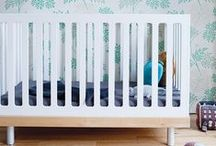 Oeuf Classic collection / The Classic crib was created by parents who understand the importance of safety. This clean and contemporary piece is made from wood panels on a solid wood base, making it one of the sturdiest and safest cribs available. With the conversion kit, the Classic crib converts into a stylish toddler bed. / by Oeuf NYC