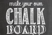 Chalkboard Effects / #chalkboard #krijtborden