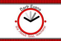 Barb Evans' TPT Resources /  It's about time, teachers; your precious time.  I've done the work to save your time. https://www.teacherspayteachers.com/Store/Barbara-Evans