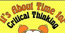 It's About Time for Critical Thinking / Critical thinking is crucial to developing independent learners.  Save time and effort by perusing these great ideas for critical thinking activities.  Collaborators, please pin any lessons, products, and/or blog posts that DIRECTLY SUPPORT teaching critical thinking.    To join this board, follow it and email me at: itsabouttimeteachers@gmail.com