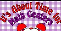 It's About Time for Math Centers / Math centers are important to your teaching curricula.  Peruse these resources for great ideas and time saving products.  Please pin any lessons, products, blog posts that DIRECTLY SUPPORT using math centers in the classroom.  To join this board, email me @ itsabouttimeteachers@gmail.com