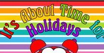 It's About Time for Holidays / Holidays are busy times.  Help yourself to these ideas and resources that will enrich your curricula for any holiday.  Collaborators, please pin any lessons, products, and/or blog posts that DIRECTLY SUPPORT holiday resources for holidays.   To join this board, email me @ itsabouttimeteachers@gmail.com
