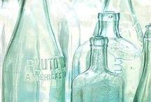Glass & Glassware / glas, glazen flessen, glazen potten