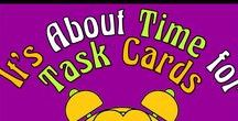 It's About Time for Task Cards / Task Cards are a great way to conduct centers, enrichment, and fast finishers' challenges.  Do you have some great task card activities?  Share them here.   To join this board, email me @ itsabouttimeteachers@gmail.com