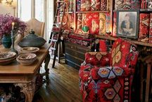 Rug covered Furniture