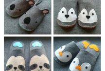 Handmade slippers by MissCute / Handmade DIY felt slippers <3 DIY  http://www.facebook.com/misscutepl