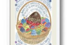Hannah Dunnett Easter Designs / Scripture filled Easter cards and posters.