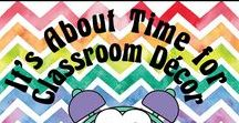 It's About Time for Classroom Decor / Whether you are creating a classroom with a specific color scheme or looking for ideas to support your special theme, you are sure to find many great ideas and products here.   Collaborators, please pin any lessons, products, and/or blog posts that DIRECTLY SUPPORT classroom decor. To join this board, follow it and email me at: itsabouttimeteachers@gmail.com