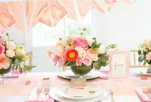 Peach Wedding / Fall in love with this blushing color palette for your special day.