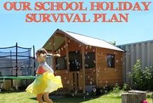 School's Out! Holiday Fun / Ideas for creating fun at home for kids on vacation or school holidays / by Christie @Childhood101