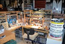 Model Workbenches / Inspiration! Scale Model workbenches, shops, studios, and displays. And some ideas for your own man cave hobby room. It's not about the awards, or how many kits are in your stash ... it's all about the bench and the room ! / by Rocketfin Hobbies