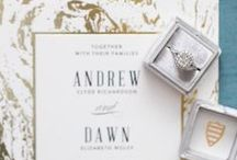 Gold Wedding / Shimmering metallics to decorate you wedding as inspired by our gold foil-pressed wedding invitations and save the date collections