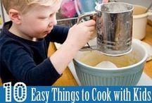 Kids Cook! / Cooking is such an important life skill! This collection of recipes for cooking and baking with kids is sure to inspire. / by Christie @Childhood101