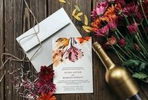 Deep Red Fall Wedding / Wedding inspiration board centered around creating a bright and deep red for the perfect fall ceremony and reception.