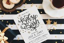 Gender Neutral Baby Shower / Plan the perfect gender neutral baby shower with these fun and fancy theme party and decor ideas from Minted.