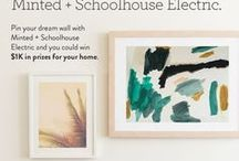 Minted + Schoolhouse Electric - My Dream Wall / Have you just moved into a new place or are you ready to refresh your space? Then we have just contest for you! Minted + Schoolhouse Electric have partnered together for you to pin to win your dream wall for a chance to win a $1,000 shopping spree for your home.