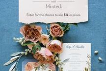 Minted Dream Wedding / Show us your dream Minted Wedding! Pin a list of your favorite Minted Wedding items that you'd love to include in your vision of a dream wedding for a chance to win a $1,000 credit towards  from Minted.