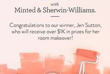 Inspire Your Space / To celebrate the launch of our new Art Styling Services, Minted has partnered with Sherwin-Williams to offer one lucky winner over $1K in prizes towards redecorating your home. Pick one room in your home to redecorate, build a beautiful design mood board on Pinterest, and we'll select one winner to receive $1000 in Minted credit + Styling Services and up to 5g's of paint from Sherwin-Williams. WINNER: Jen Sutton - https://www.pinterest.com/onefinedaysf/my-minted-art-makeover/