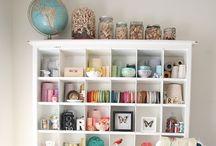 Cool Craft Rooms / Storage, decor & more...