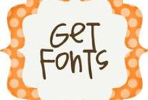 Fonts & Printables / Cool fonts and printables.  Great for scrapbookers! Some free, some not.