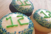 #GoHawks / Seahawks fever here in Seattle!  12th Man Cupcakes are aplenty! #Louder