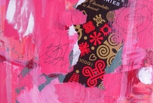 Primarily Pinkish Paintings / http://pattifriday.bigcartel.com/ / by Patti Friday