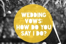 Vows / Inspiration to have the most impactful wedding vows! / by Bridal Party Tees