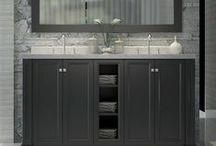 Double Sink Bath Cabinets