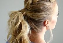 Hair Inspiration / hair tutorials, hair inspiration, braids, updo, cut, color