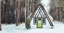 Winter / winter wonderland, cozy fires, snowy woods