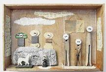 my work: kunstkisten / art boxes xl / assemblage, collage, kunstschachteln, art boxes, box art, diorama, kunst, art, kunstschachtel, matchboxart, schachtelgeschichten, mano kellner