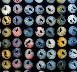 my work: pattern - muster / muster, manomuster, mano kellner, pattern, stempel, stempeldruck, stampcarving, handprint, print